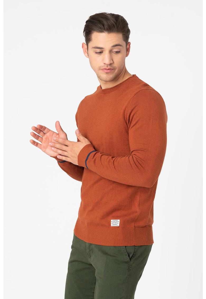 Pulover tricotat fin cu decolteu la baza gatului Pablo Pepe Jeans London fashiondays.ro
