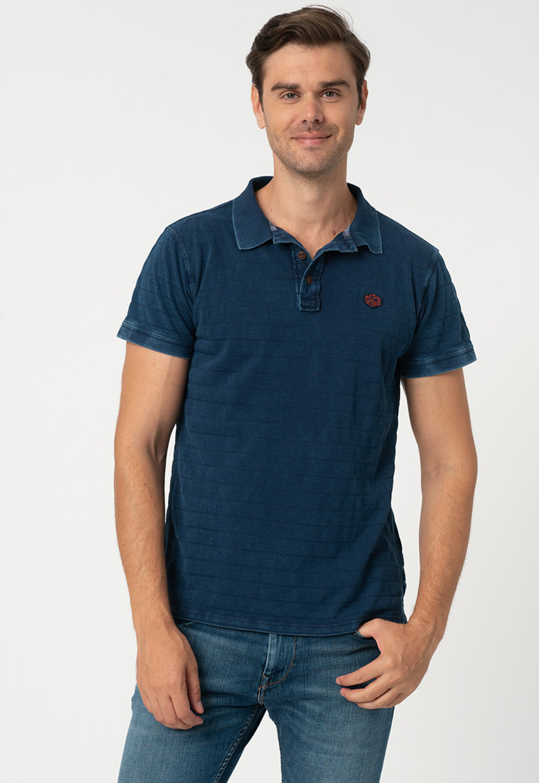 Tricou polo de bumbac in dungi Reeves