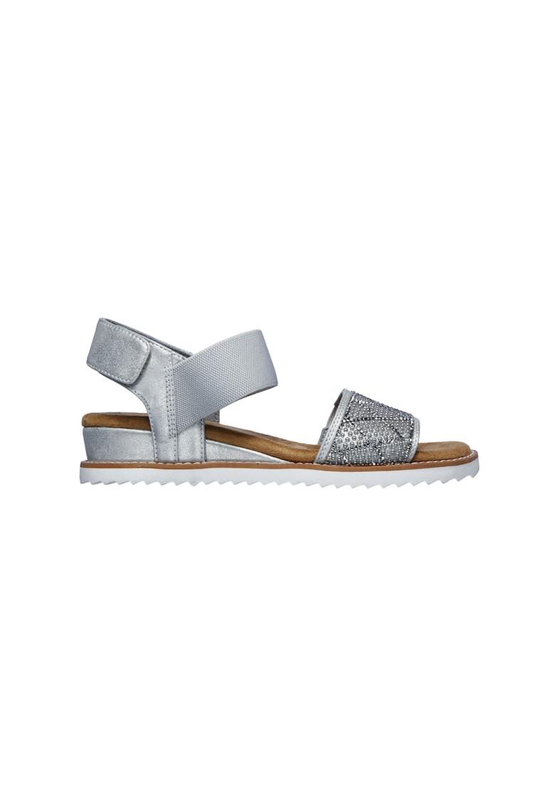 Sandale cu velcro si aplicatii de strasuri Desert Kiss-Desert Disco