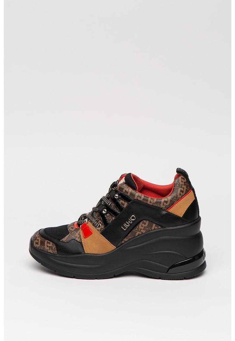 Pantofi sport cu aspect stralucitor 2