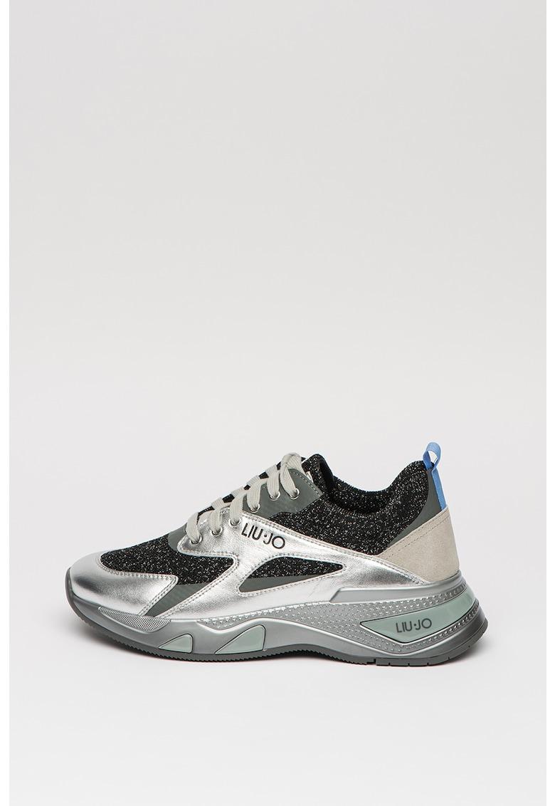 Pantofi sport cu garnituri metalizate Hoa 1