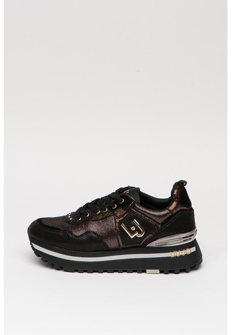 Pantofi sport cu aspect stralucitor 1