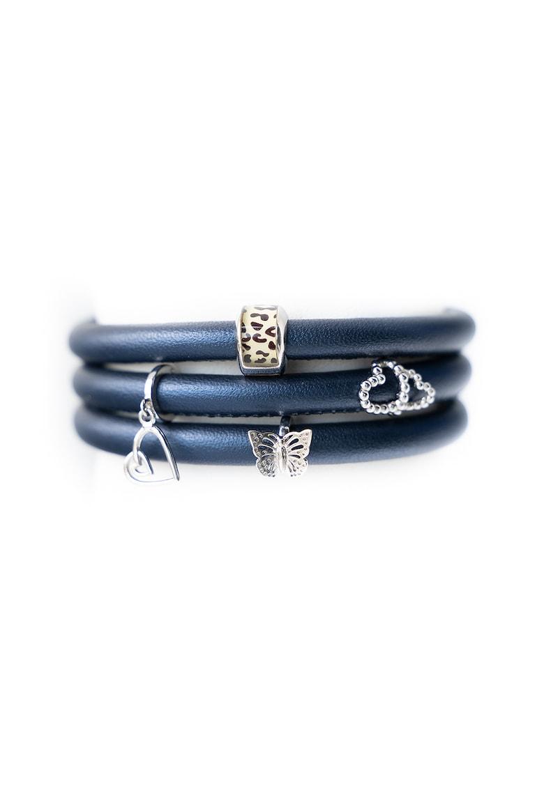 Christina Jewelry& Watches - Bratara de piele cu talismane de argint
