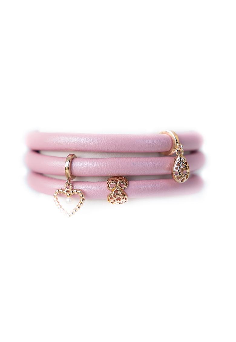 Christina Jewelry& Watches - Bratara de piele cu talismane placate cu aur