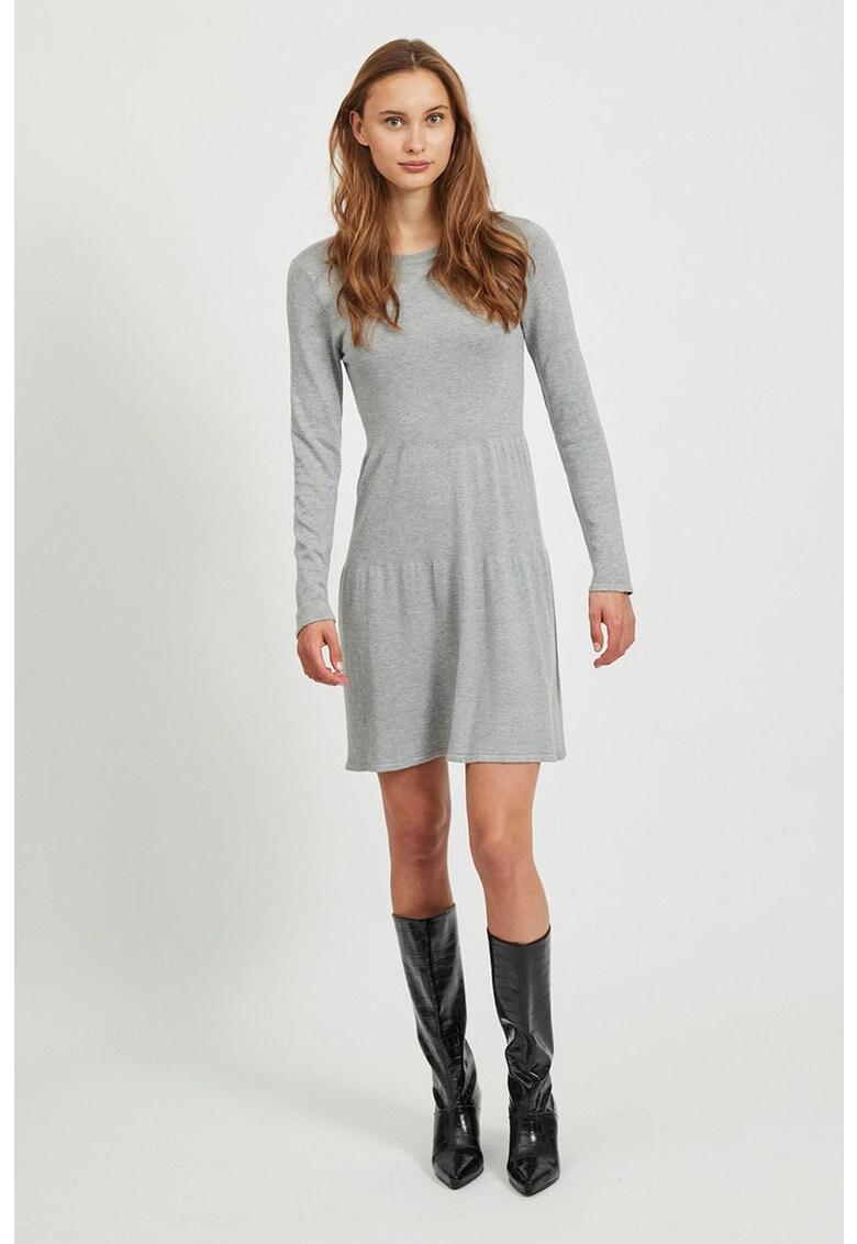 Rochie evazata tricotata fin