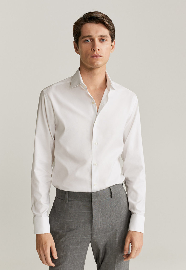 Camasa slim fit din material care se calca usor Bruce poza fashiondays