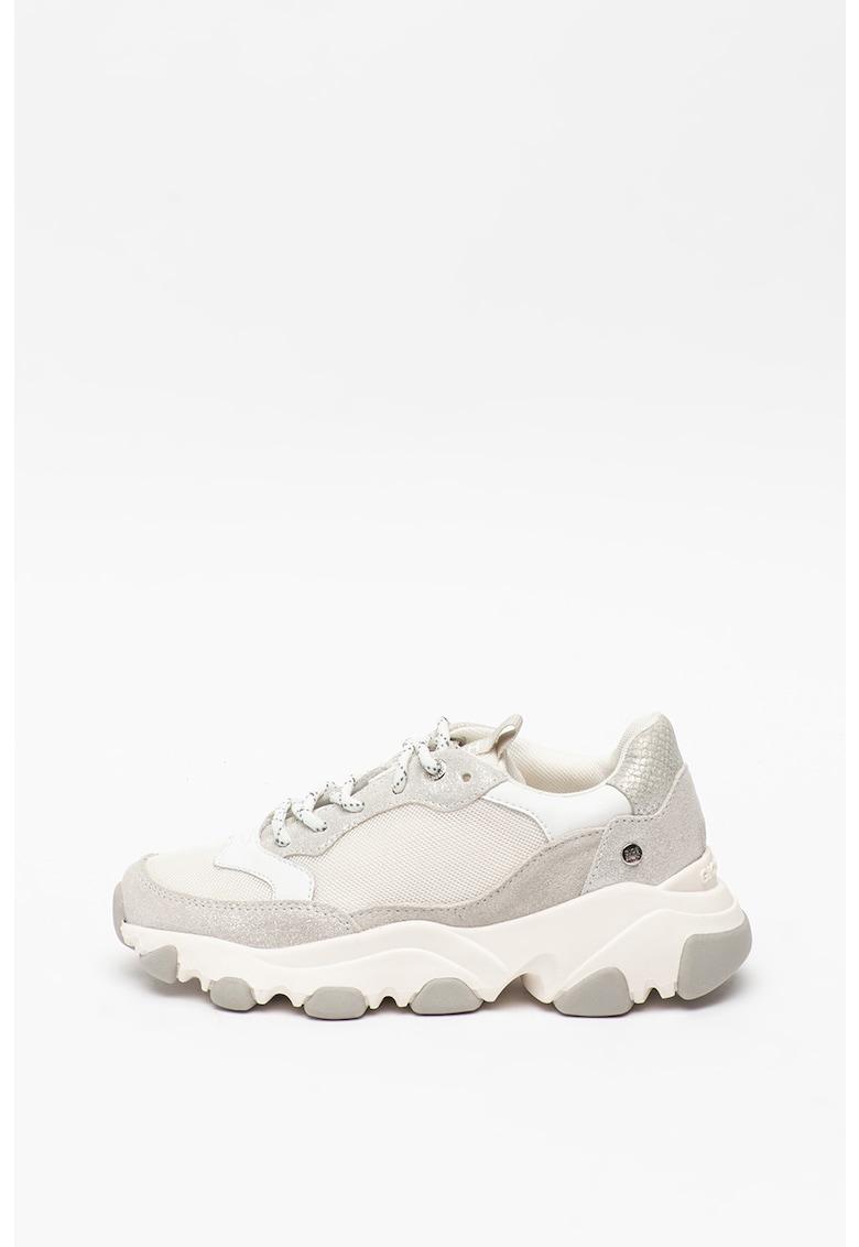 Pantofi sport din piele intoarsa cu insertii din plasa Bruselas