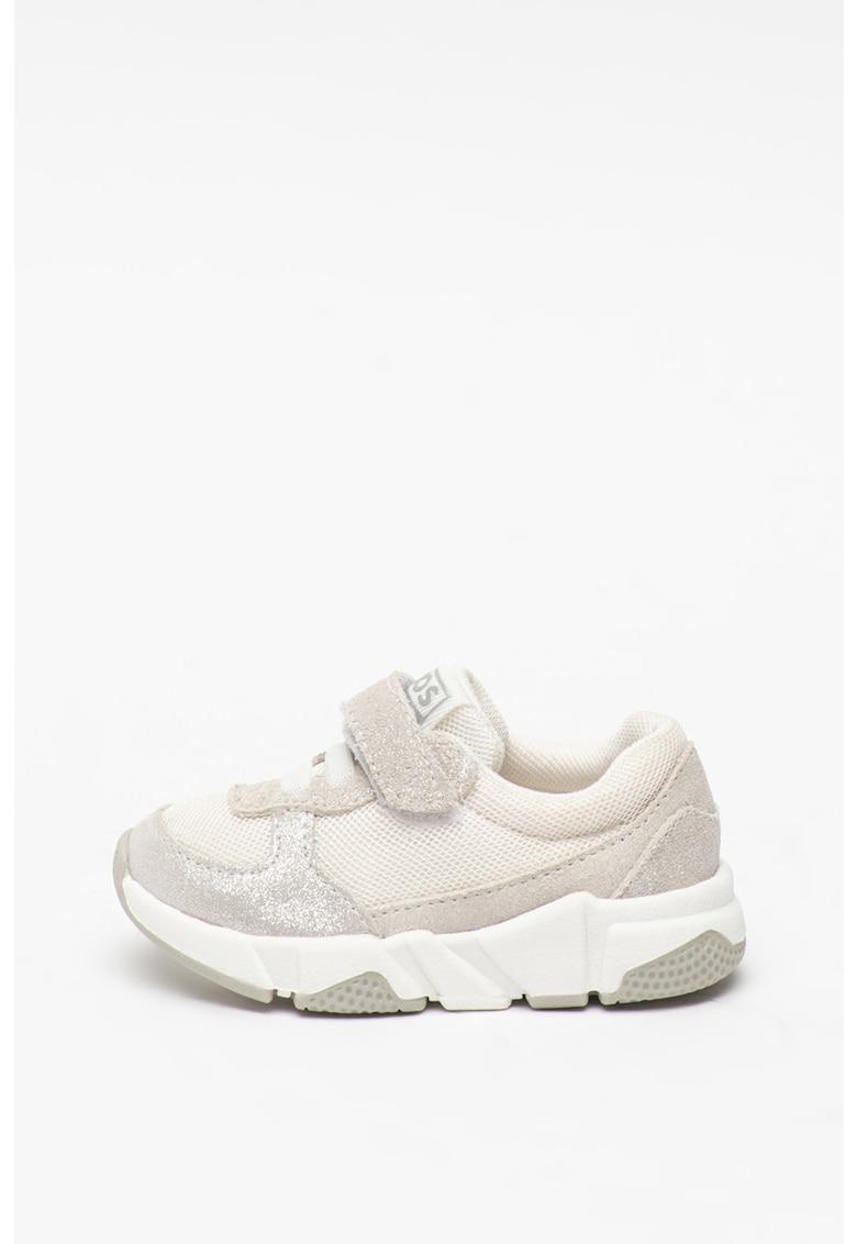 Pantofi sport din piele intoarsa cu insertii din plasa Elstra