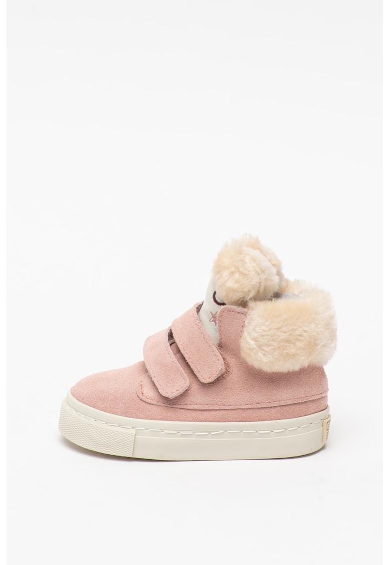 Pantofi sport din piele intoarsa si material textil - cu inchidere velcro Semoins imagine