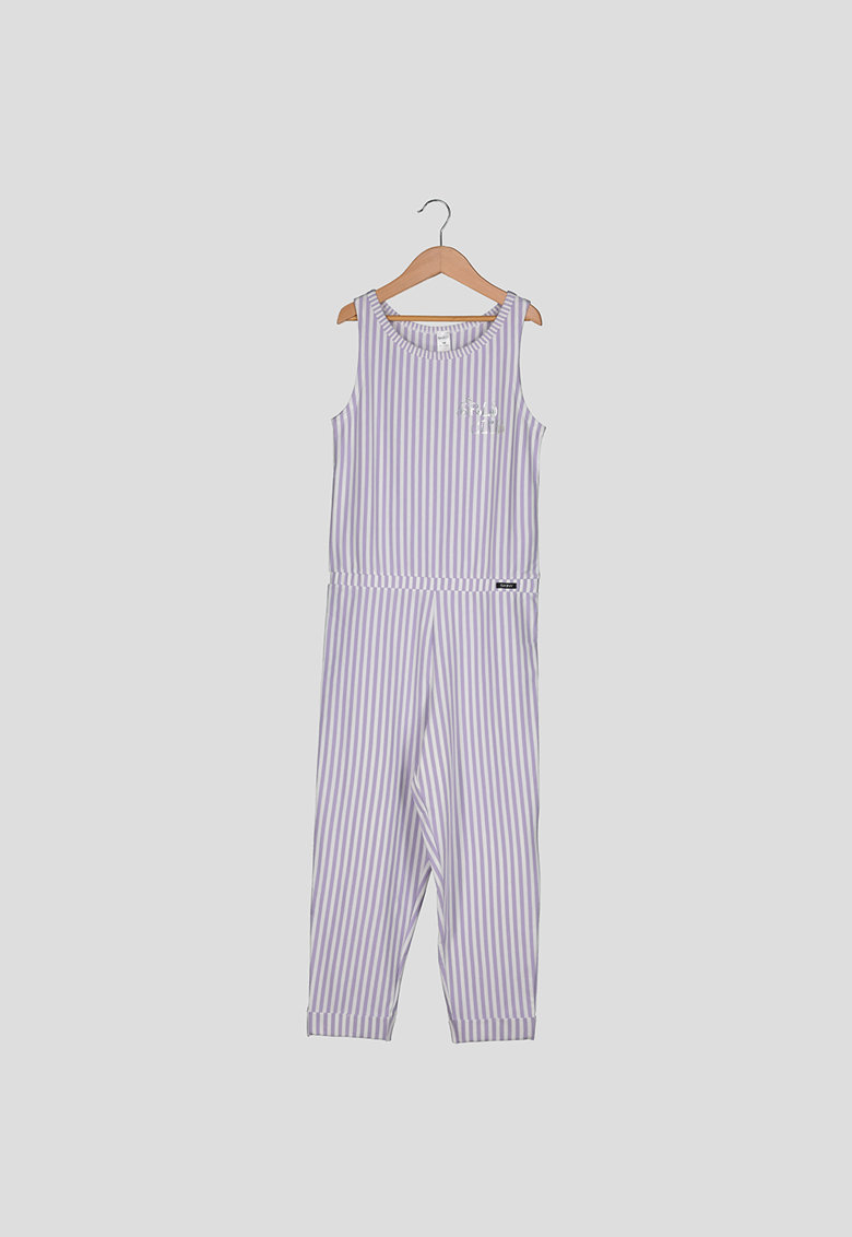 Salopeta de pijama cu dungi