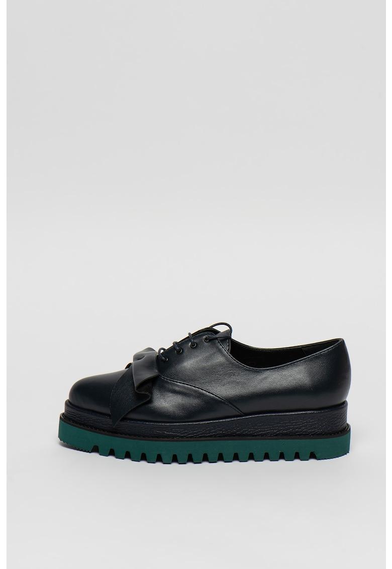 Pantofi flatform din piele