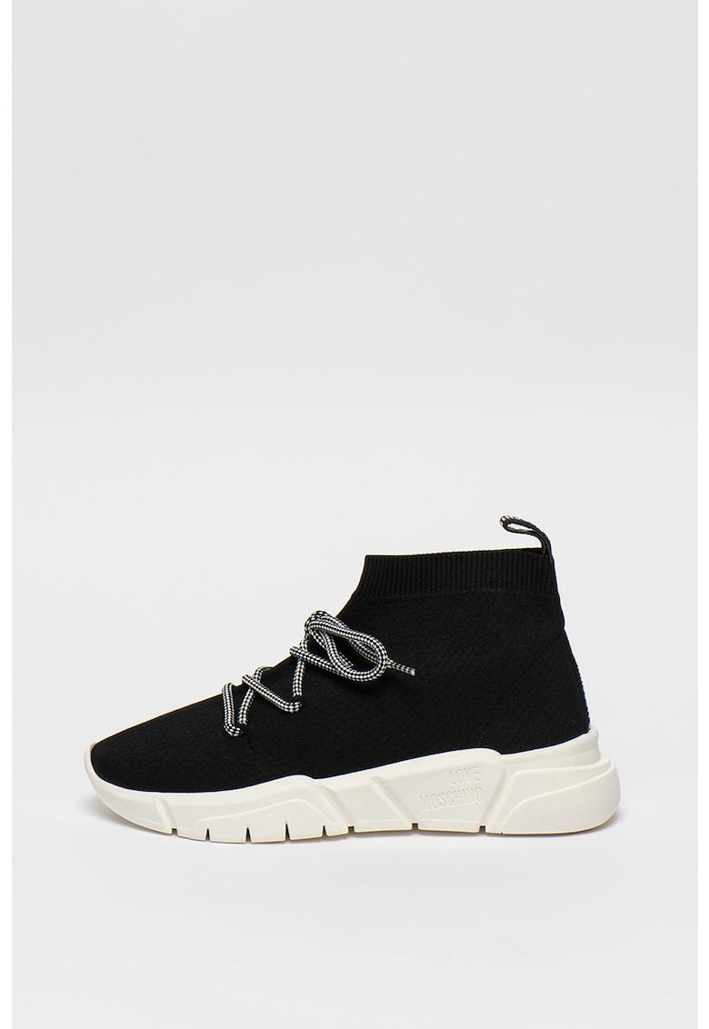 Pantofi sport mid cut cu constructie tip soseta 1