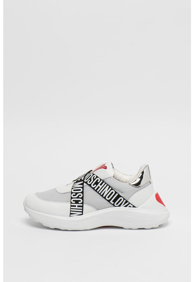 Pantofi sport slip-on cu talpa wedge
