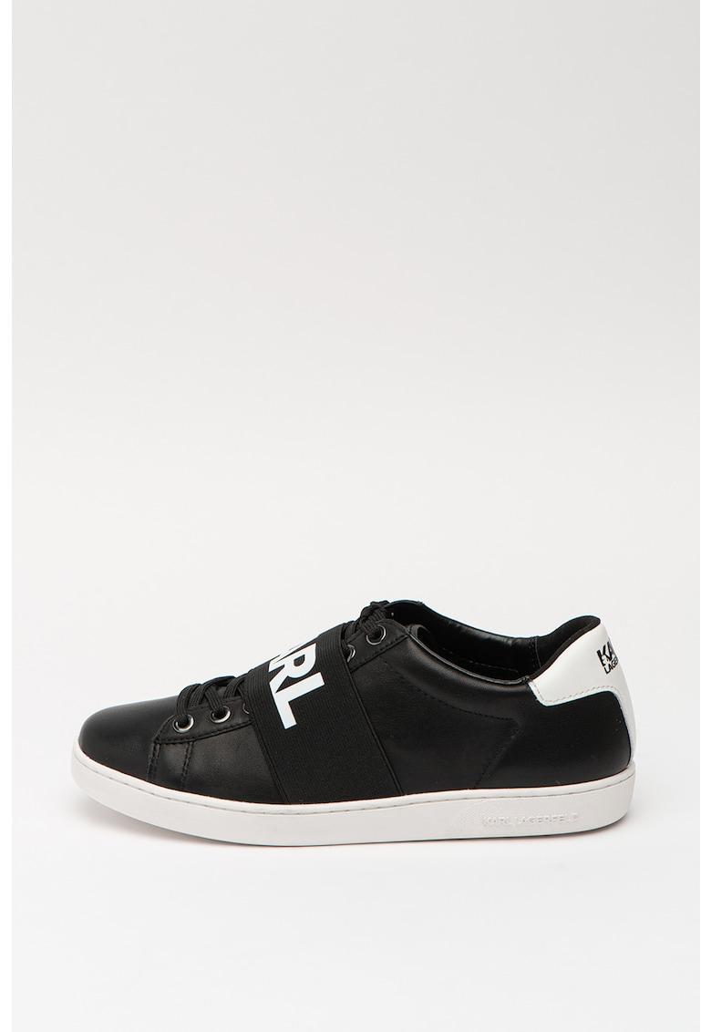 Pantofi sport de piele cu aspect colorblock 2