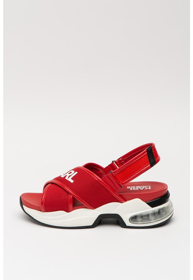 Sandale cu garnituri de piele poza fashiondays