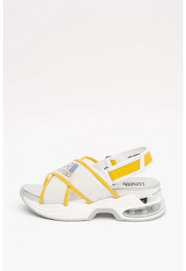 Sandale cu logo imagine fashiondays.ro