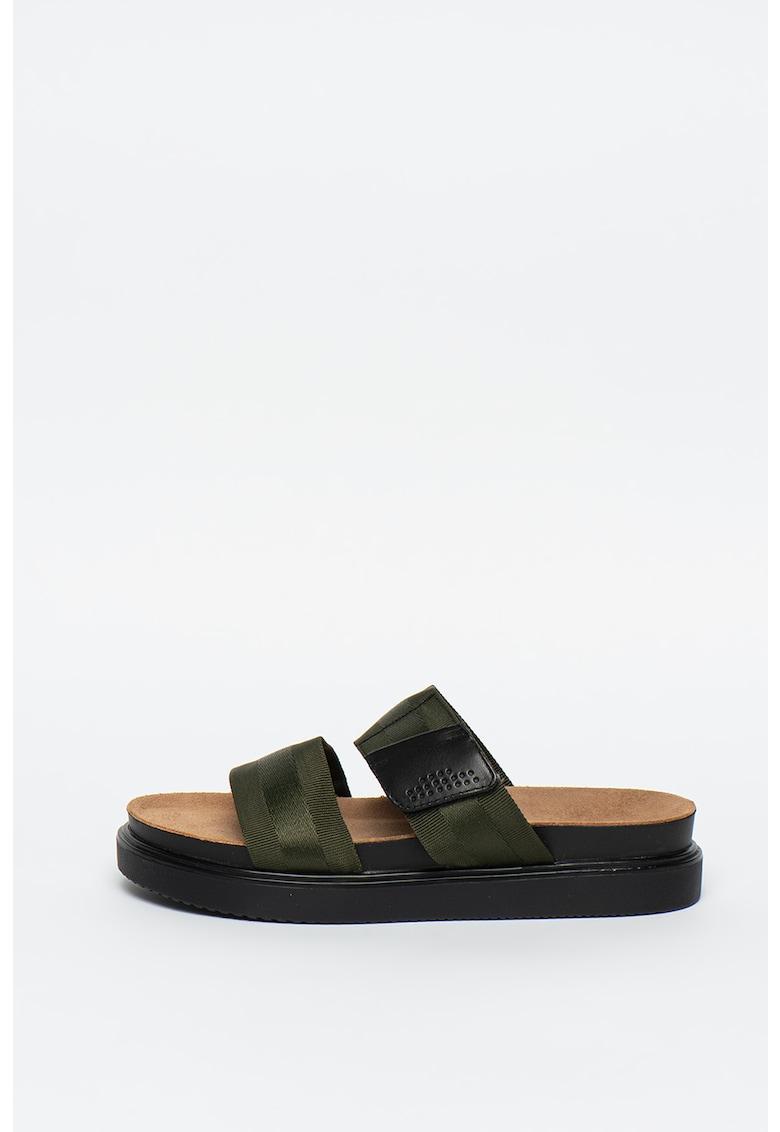 Papuci cu insertii din piele Seth