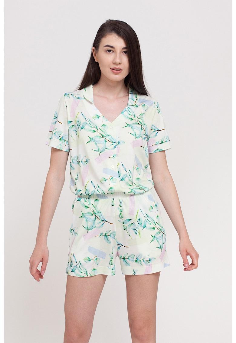 Pijama cu imprimeu floral imagine