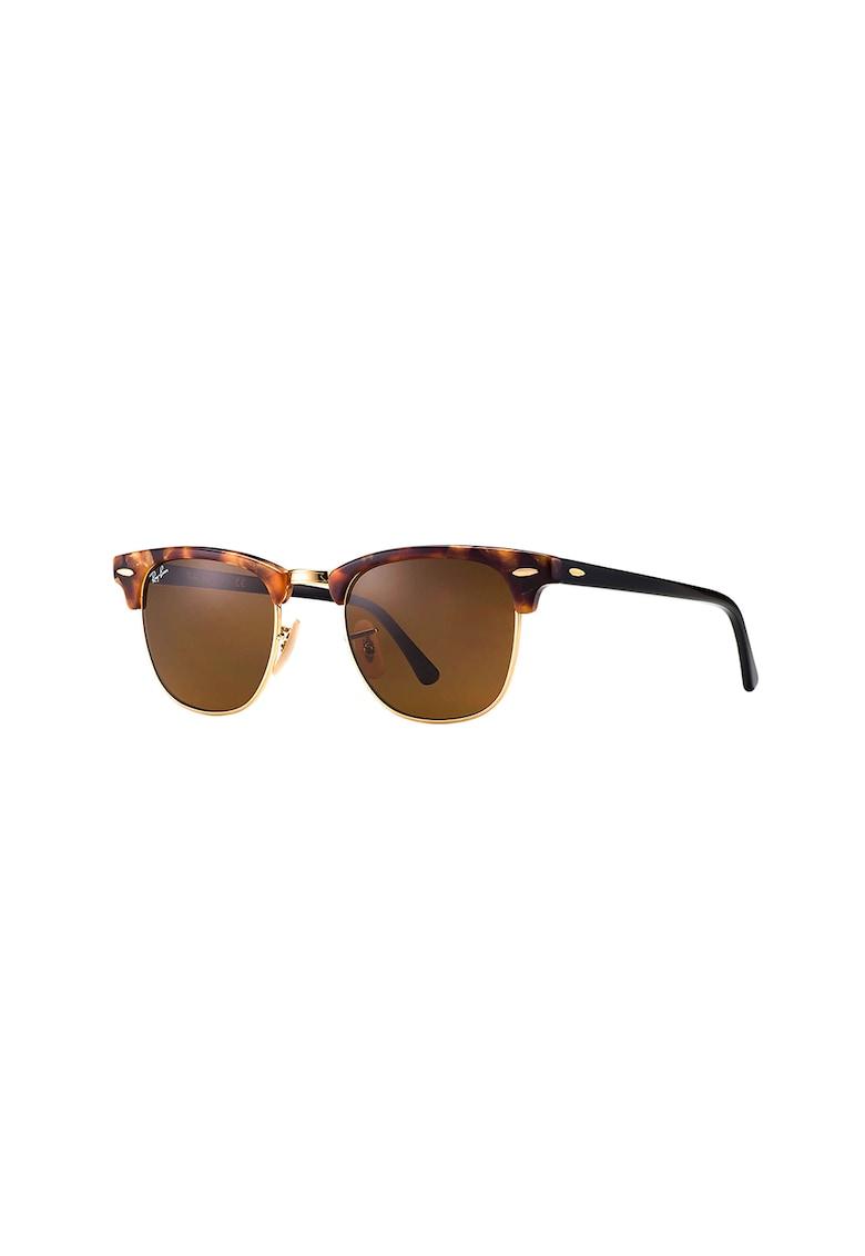 Ochelari de soare clubmaster cu lentile uni 1 imagine
