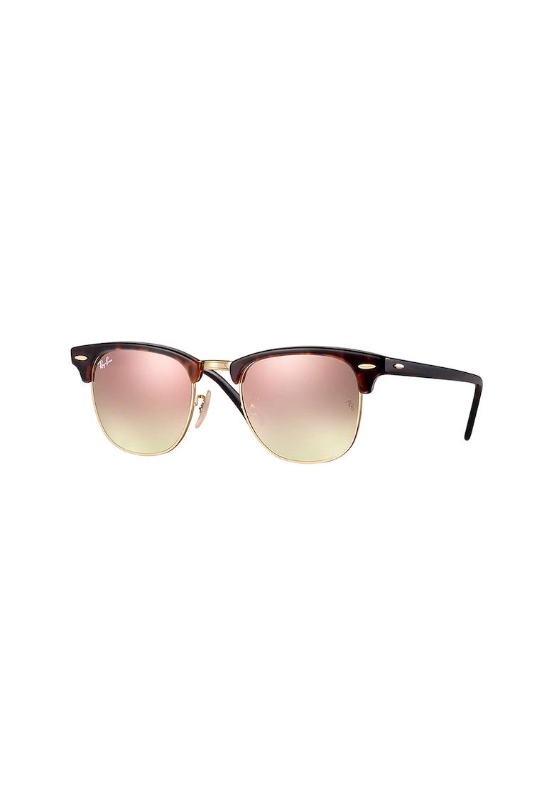 Ochelari de soare clubmaster cu lentile tip oglinda imagine