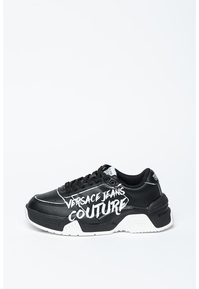 Pantofi sport din piele cu imprimeu logo Fire1