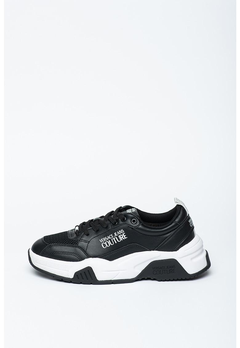 Pantofi sport din piele cu logo Fire