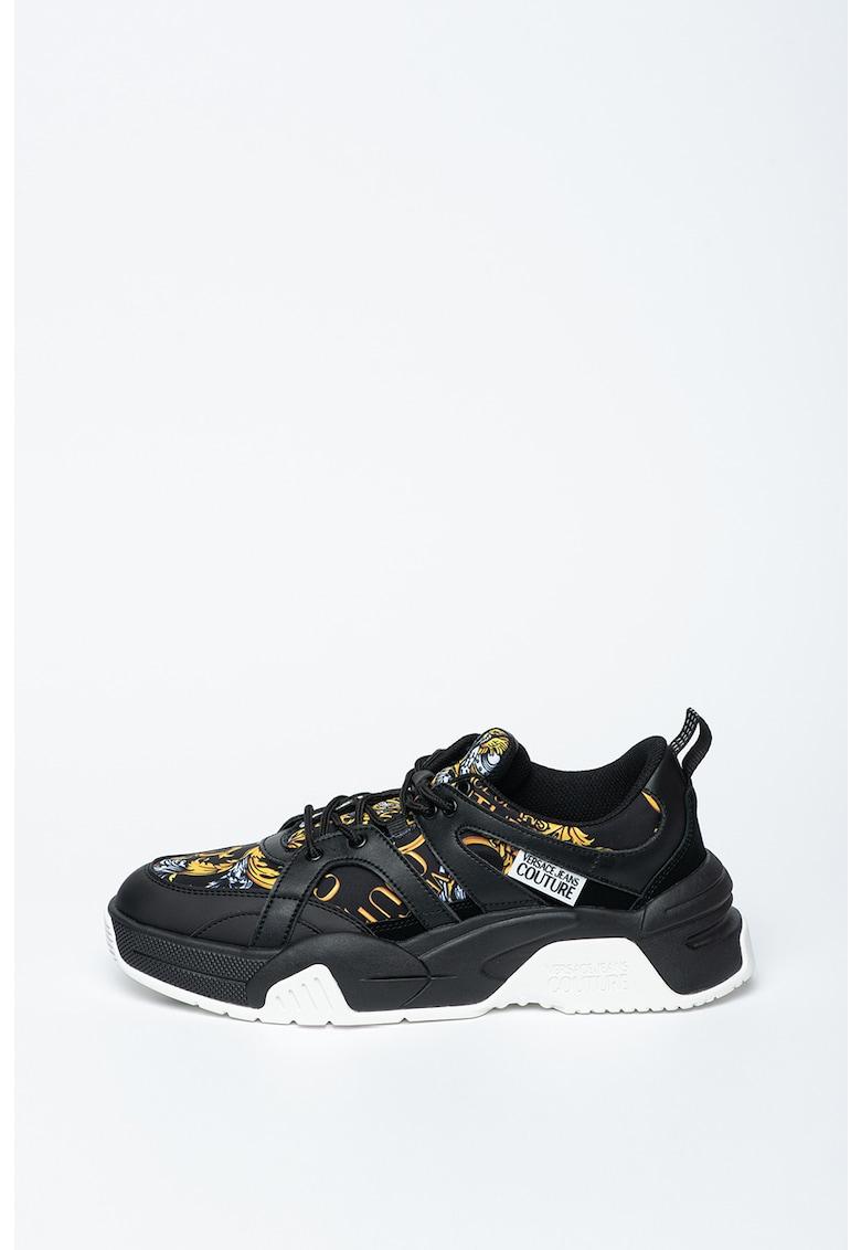 Pantofi sport cu garnituri din piele Fire1