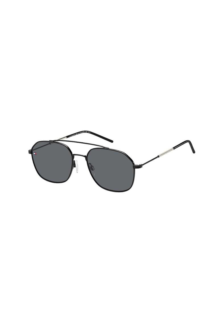 Ochelari de soare aviator unisex cu rama metalica