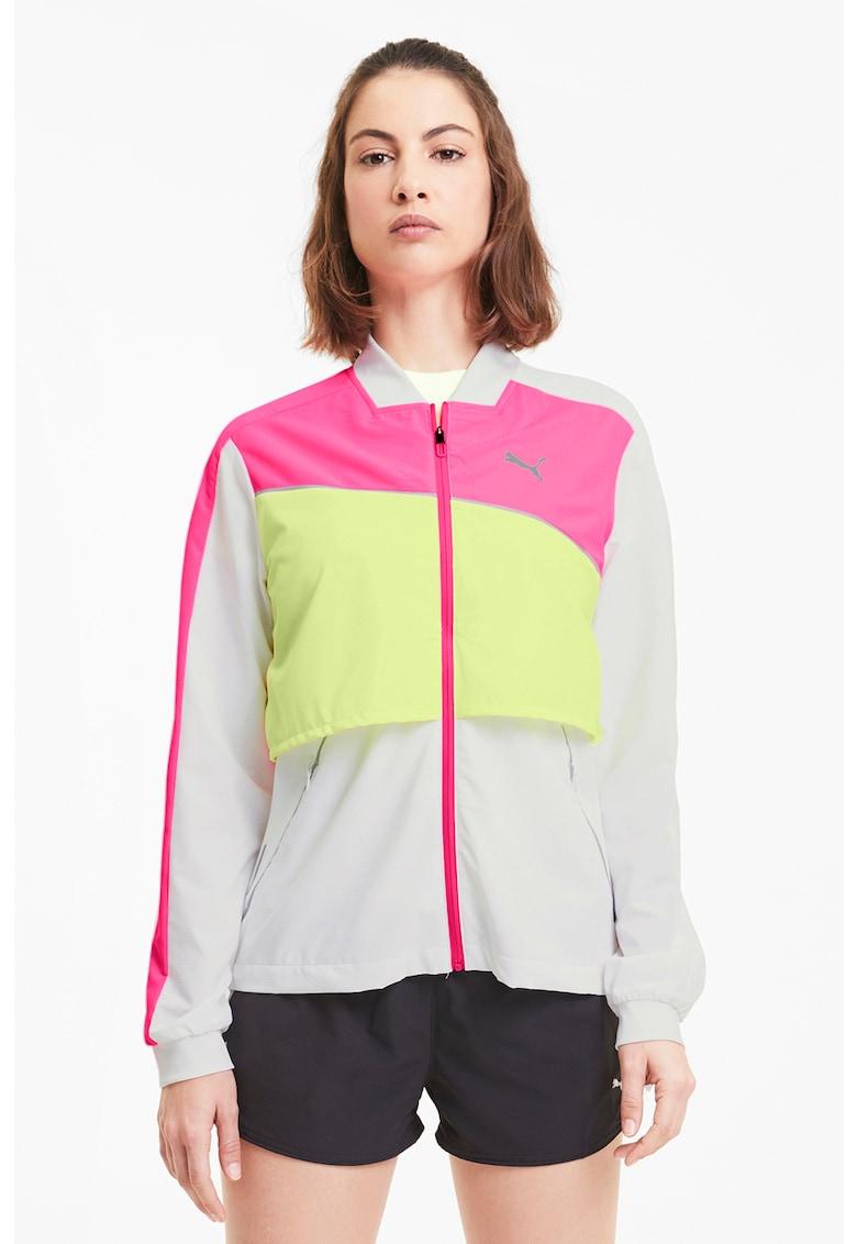 Jacheta cu model colorblock - pentru alergare Run Ultra