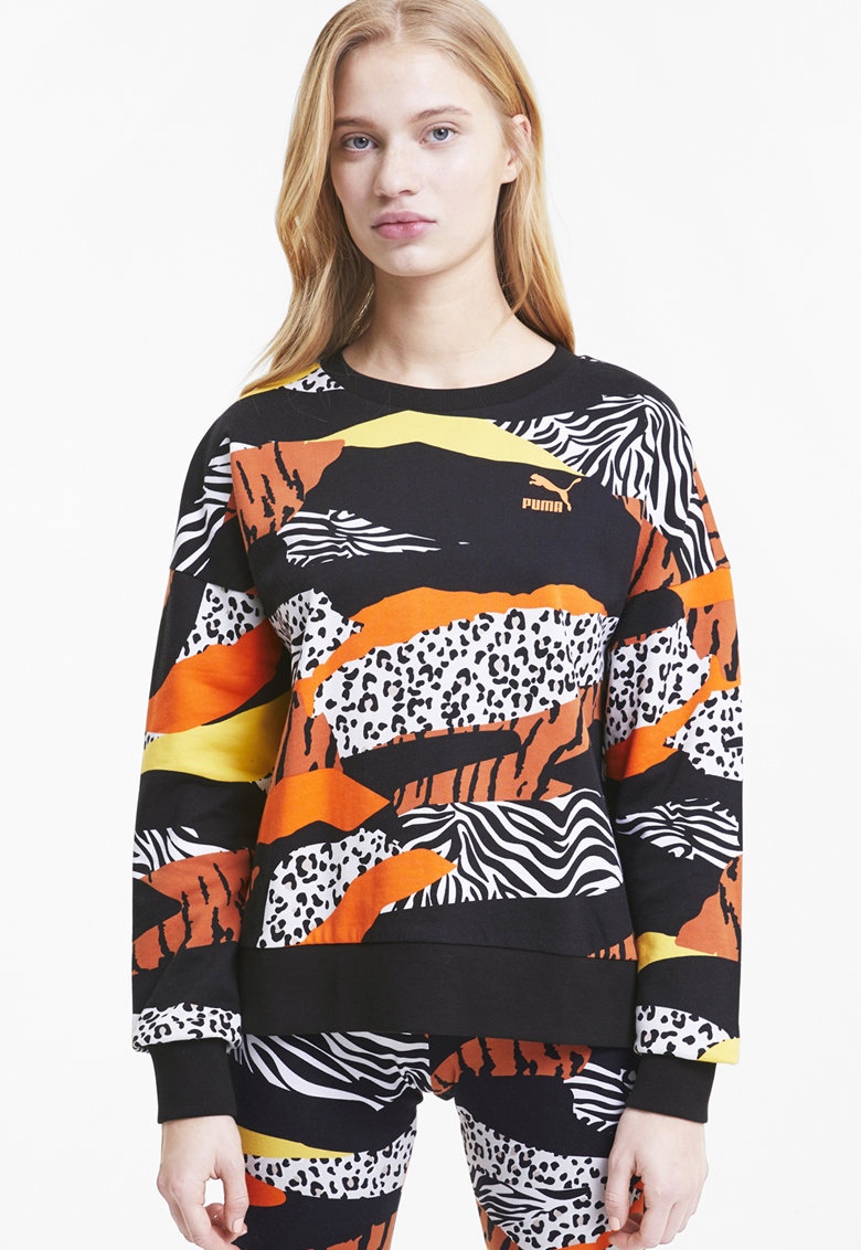 Bluza sport cu decolteu rotund - logo si imprimeu imagine