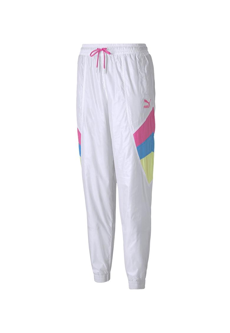Pantaloni sport cu segmente contrastante - pentru fitness Track poza fashiondays