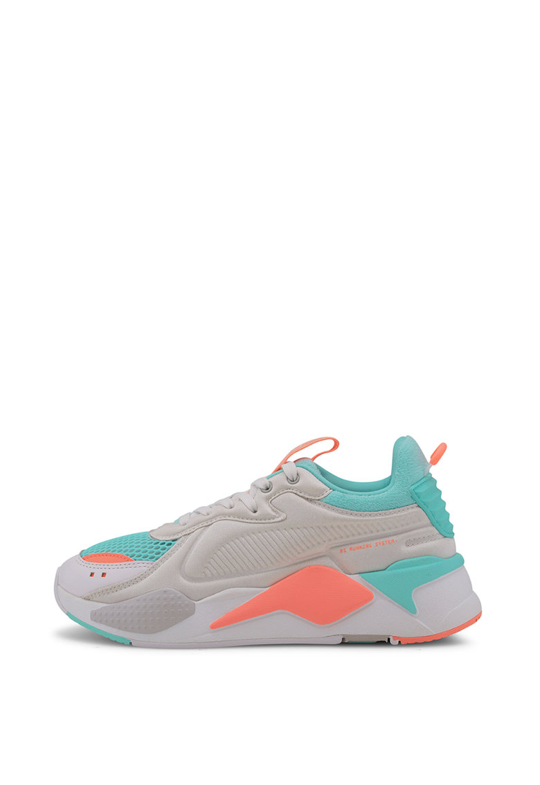 Pantofi sport unisex cu aspect masiv si model colorblock si RS-X Softcase 1