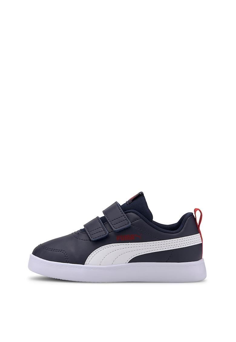 Puma Pantofi sport cu velcro si logo Courtflex V2
