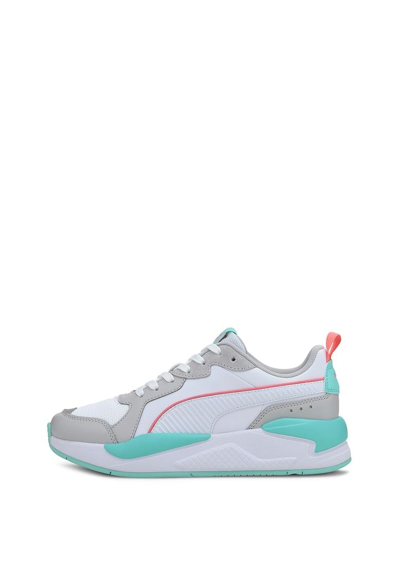 Pantofi sport unisex cu aspect masiv si model colorblock si RS-X Softcase 2