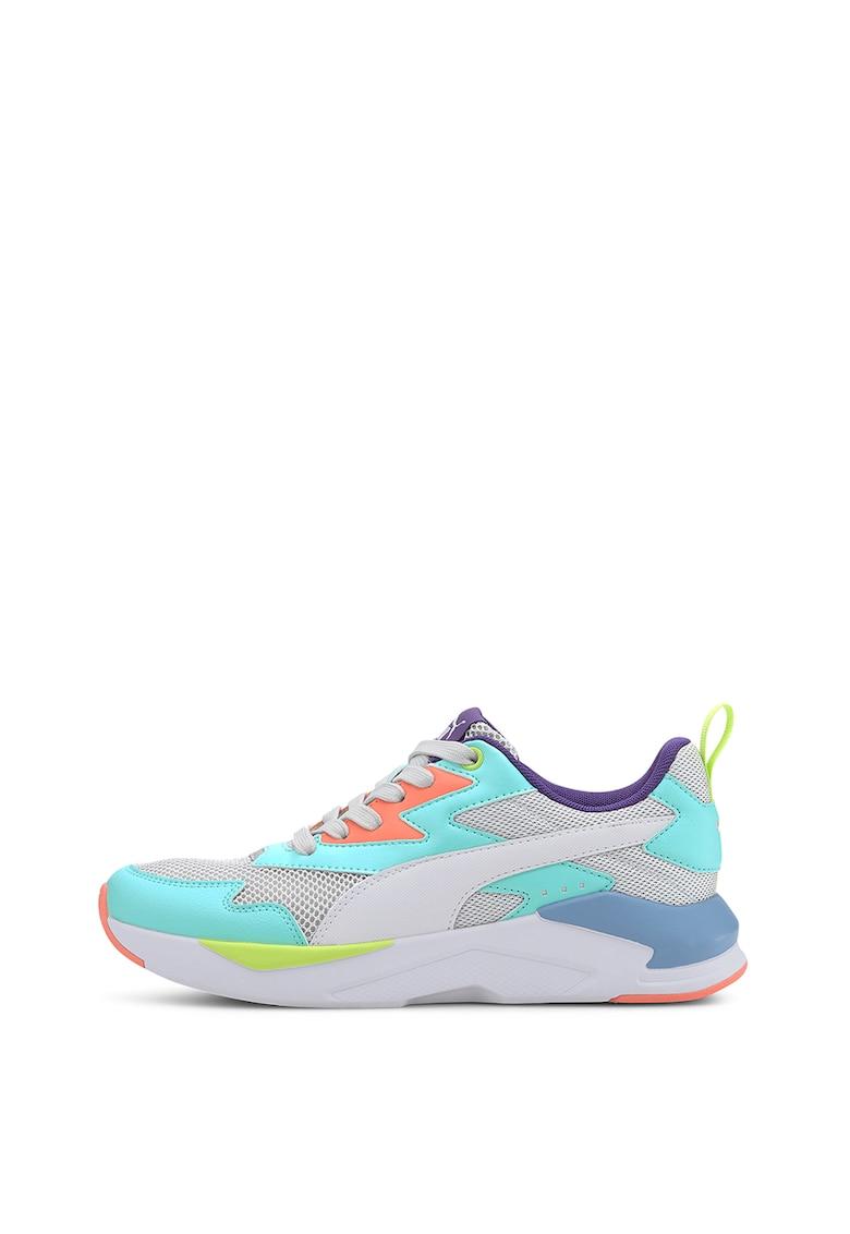 Pantofi sport unisex cu aspect masiv si model colorblock si RS-X Softcase 3