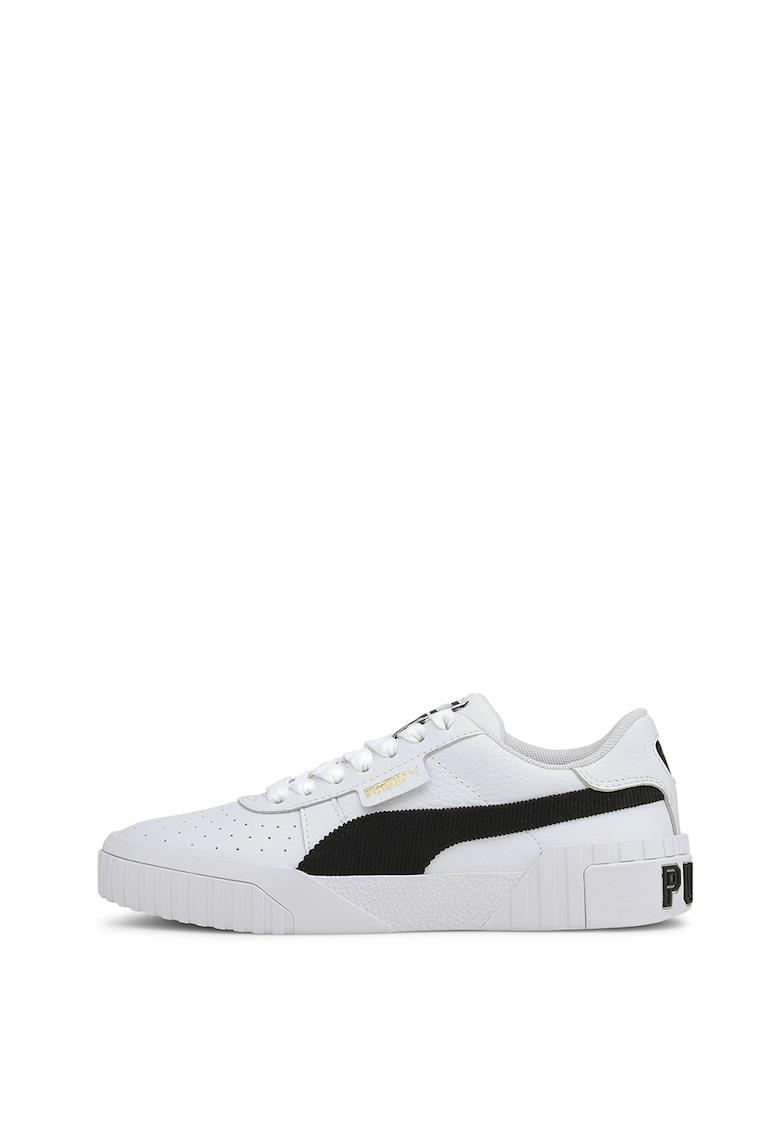 Pantofi sport de piele cu insertii de piele ecologica Carina 3