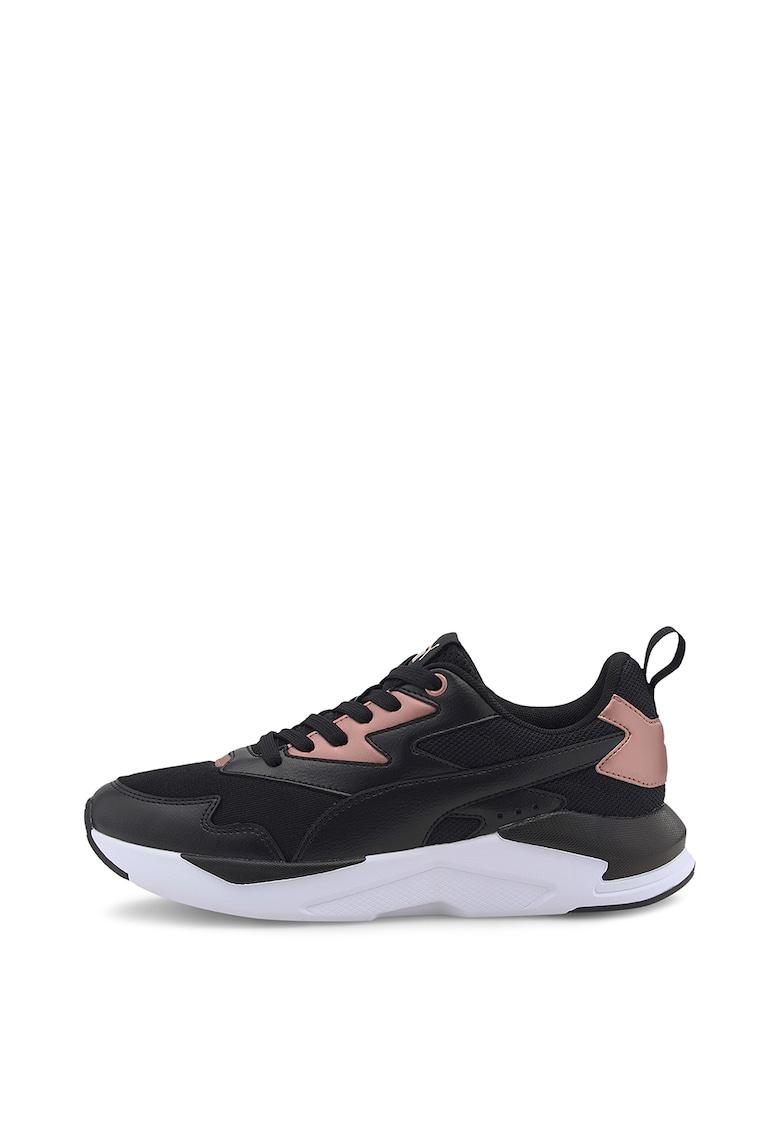 Pantofi sport de piele cu garnituri de piele ecologica Cali 3