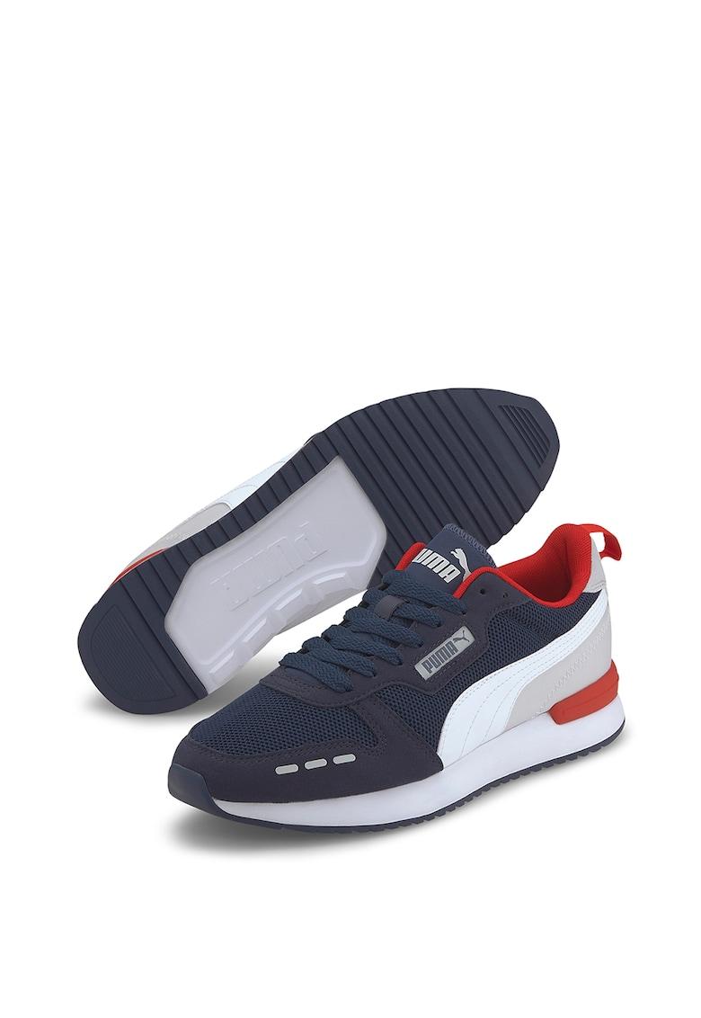 Pantofi sport unisex de piele ecologica si material textil R78