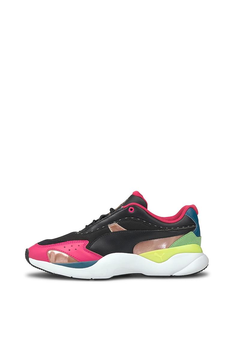 Pantofi sport cu insertii de piele intoarsa Lia FS