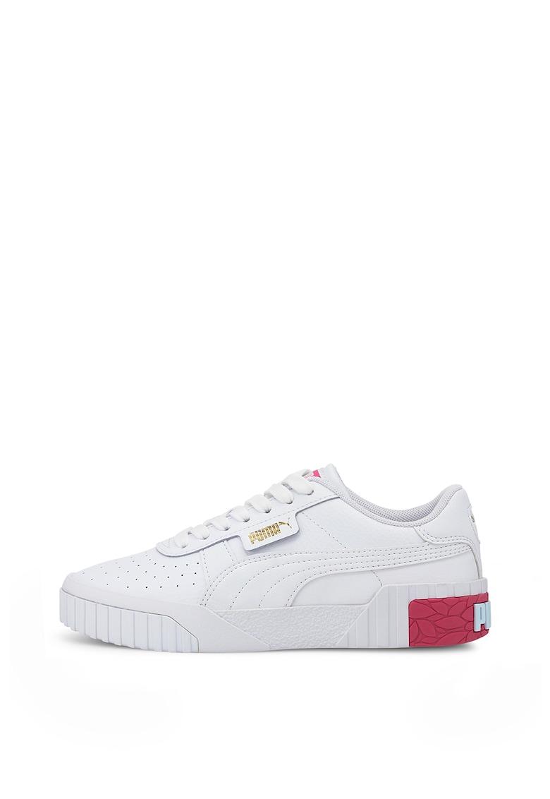 Pantofi sport cu garnituri de piele Cali Jr