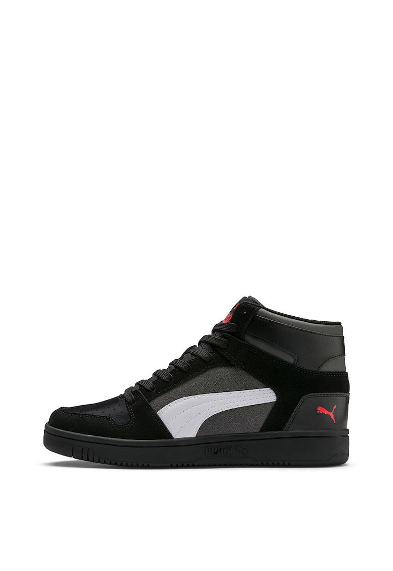 Pantofi sport mid-hi unisex cu amortizare si garnituri de piele intoarsa Rebound LayUp