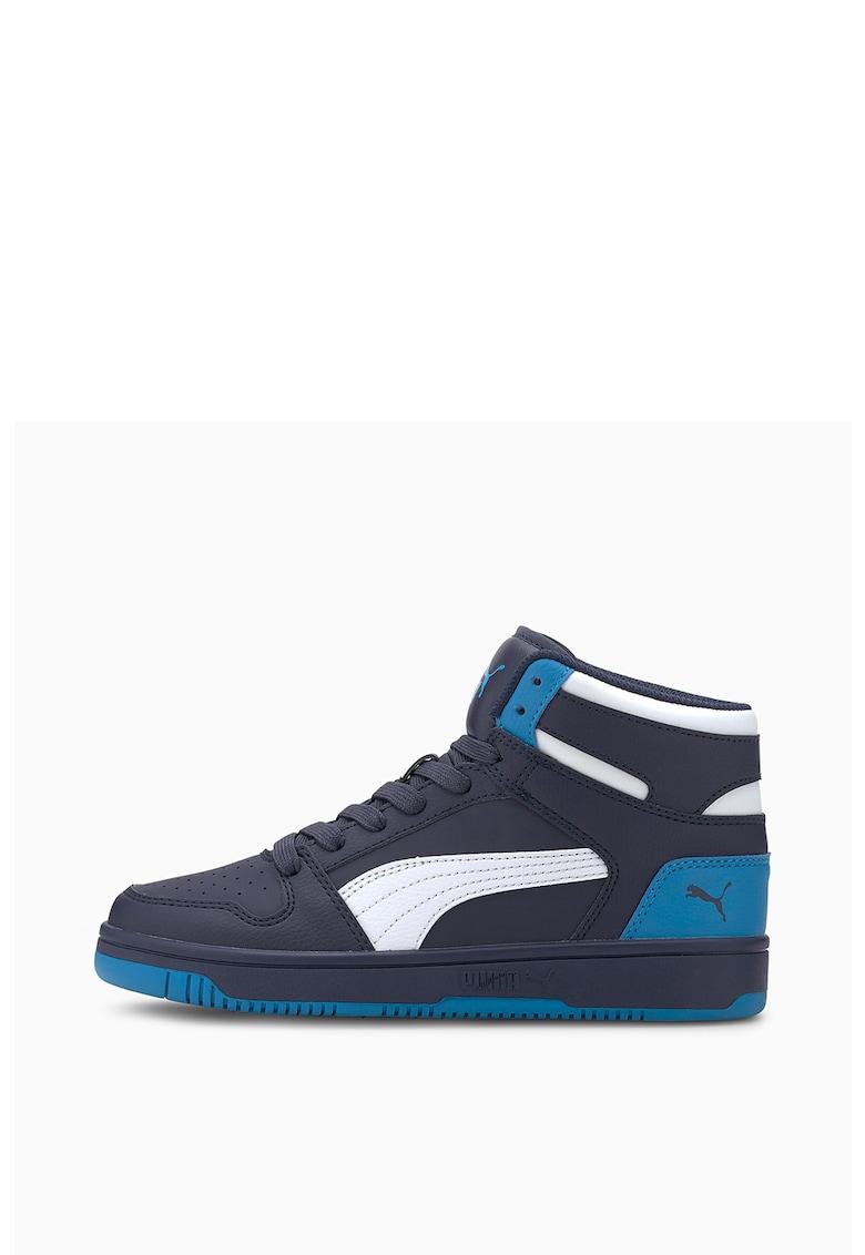 Pantofi sport mid-high de piele ecologica - cu model colorblock Rebound Layup