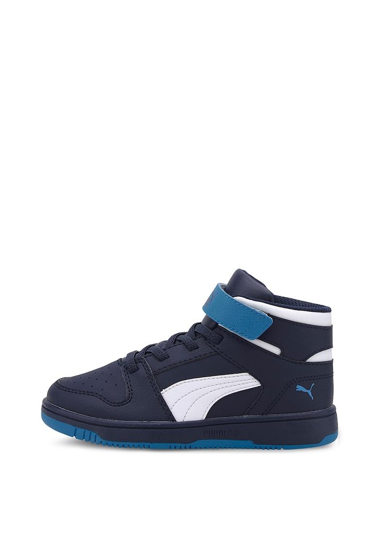 Pantofi sport mid-hi de piele ecologica cu design colorblock Rebound Layup