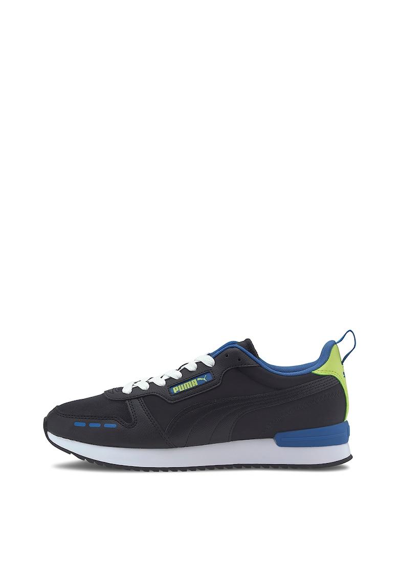 Pantofi sport de piele ecologica cu detalii contrastante R78