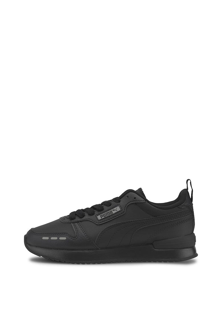 Puma Pantofi sport de piele ecologica R78 SL Jr