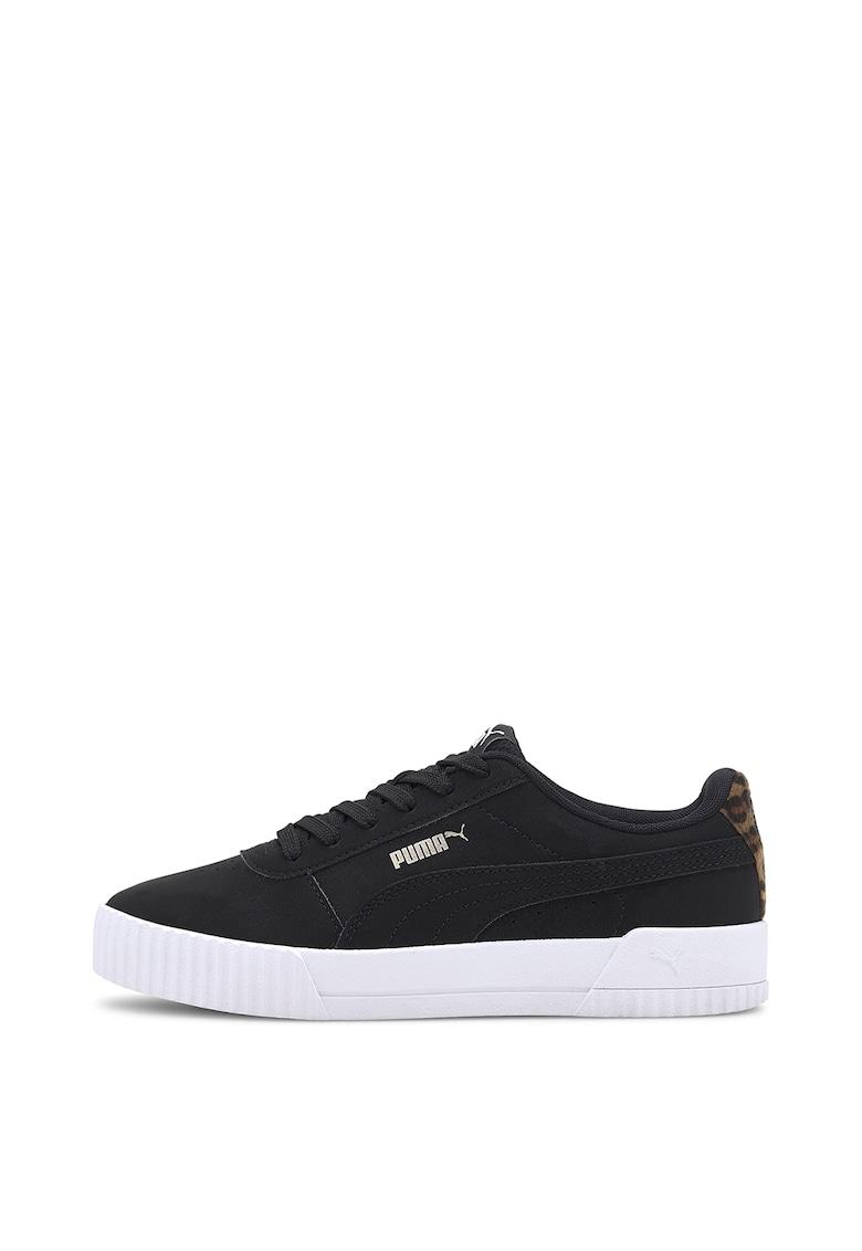 Pantofi sport de piele ecologica cu animal print Carina Leo