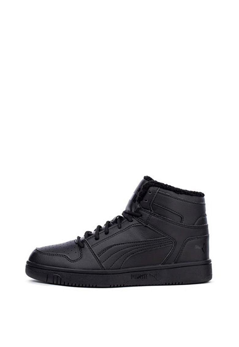 Pantofi sport mid-high unisex de piele ecologica Rebound Layup