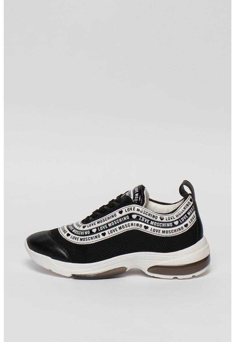 Pantofi sport cu aspect masiv si detaliu logo 1