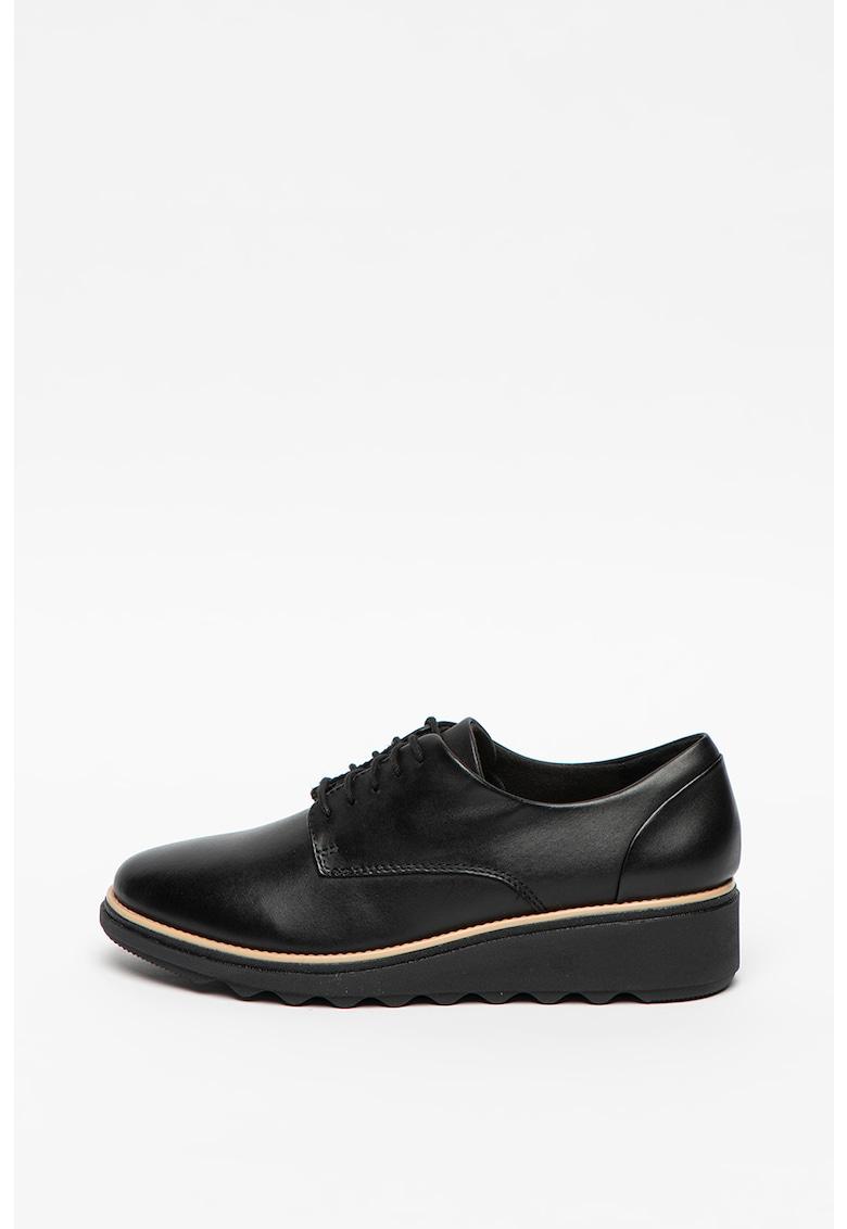 Pantofi din piele cu detaliu contrastant Sharon Noel