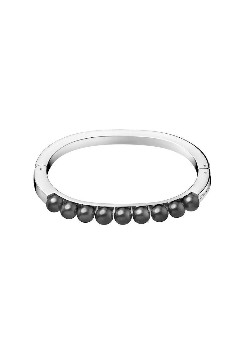 Bratara rigida circulara cu perle
